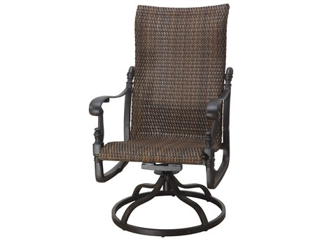 GenSun Florence Woven Cast Aluminum High Back Swivel Rocker