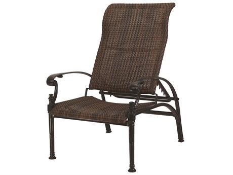 GenSun Florence Woven Cast Aluminum Reclining Chair