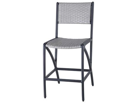 GenSun Amari Woven Aluminum Wicker Stationary Balcony Stool