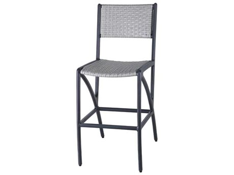 Gensun Amari Woven Aluminum Wicker Stationary Bar Stool