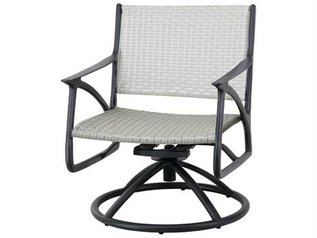 Gensun Amari Woven Aluminum Wicker Swivel Rocking Lounge Chair