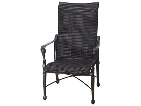 GenSun Grand Terrace Woven Cast Aluminum High Back Dining Chair