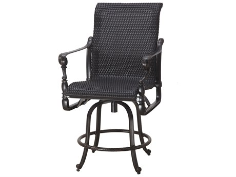 GenSun Grand Terrace Woven Cast Aluminum Swivel Balcony Stool