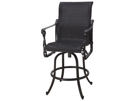 Gensun Grand Terrace Woven Cast Aluminum Swivel Bar Stool