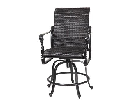 Gensun Grand Terrace Woven Cast Aluminum Swivel Rocking Balcony Stool