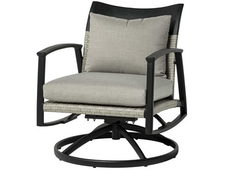 Gensun Treviso Wicker Swivel Rocker Lounge Chair