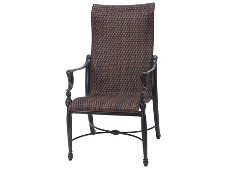Gensun Bel Air Woven Cast Aluminum High Back Dining Chair