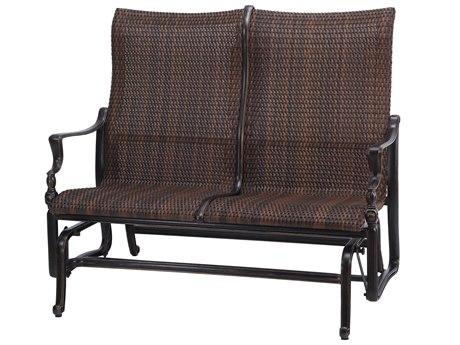 GenSun Bel Air Woven Cast Aluminum High Back Loveseat Glider