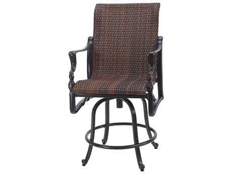 Gensun Bel Air Woven Cast Aluminum Swivel Balcony Stool