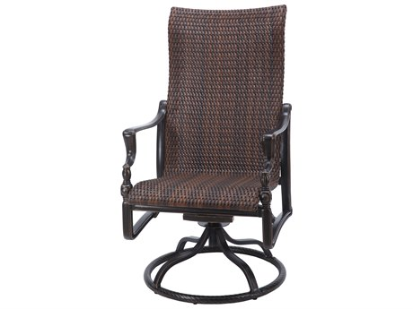 Gensun Bel Air Woven Cast Aluminum High Back Swivel Rocker