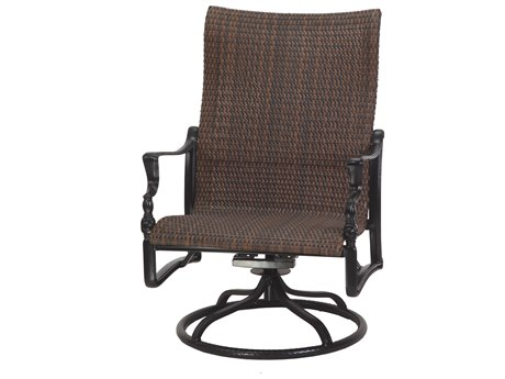 Gensun Bel Air Woven Cast Aluminum High Back Swivel Rocking Lounge Chair