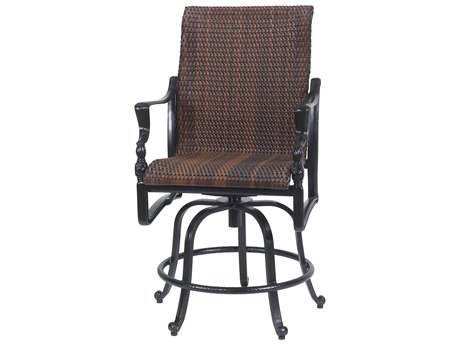 GenSun Bel Air Woven Cast Aluminum Swivel Rocking Balcony Stool
