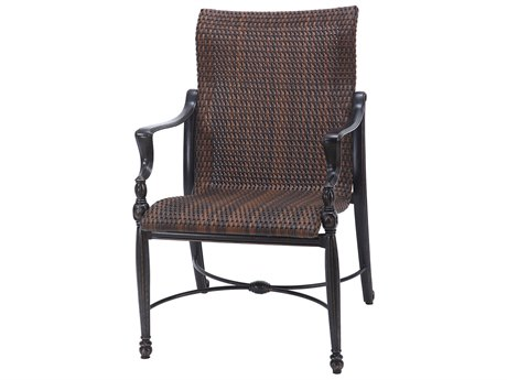 GenSun Bel Air Woven Cast Aluminum Standard Back Dining Chair (Sold in 2)