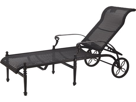 Gensun Grand Terrace Woven Cast Aluminum Chaise Lounge