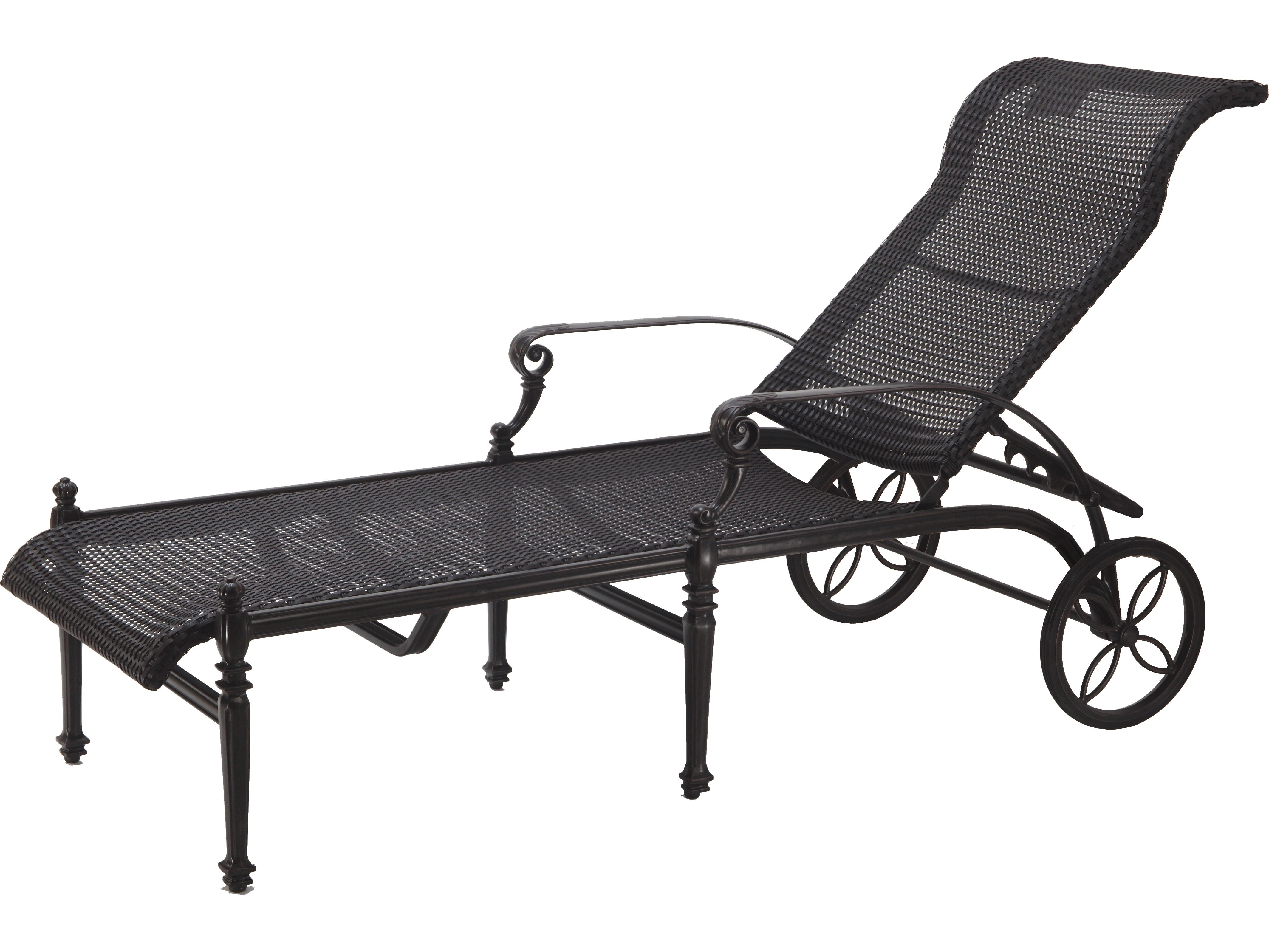 Gensun Grand Terrace Woven Cast Aluminum Chaise Lounge