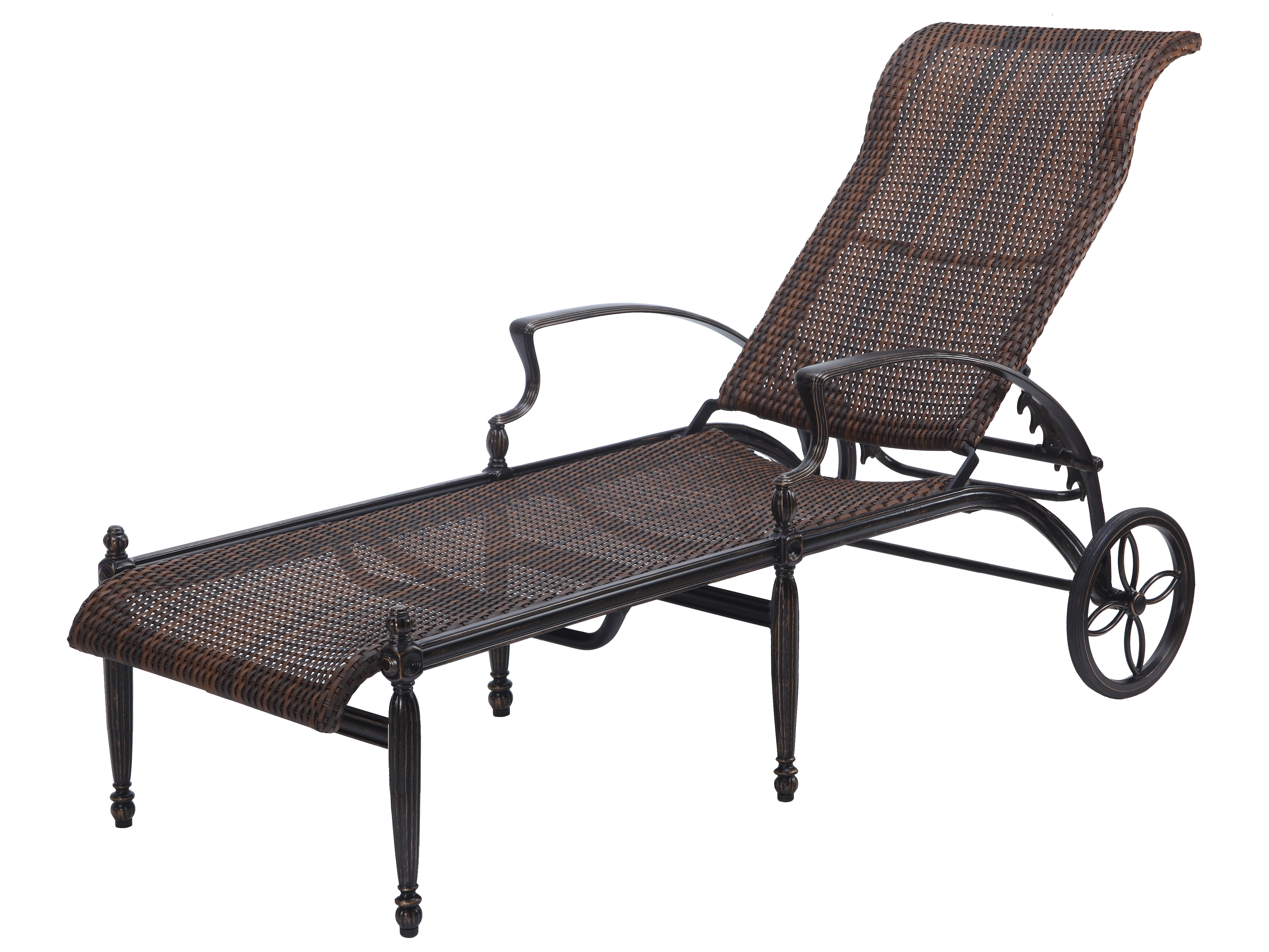 a chaise cast sofa lounge the villa set outdoor guide com furniture grande sectional patioproductions curved aluminum to
