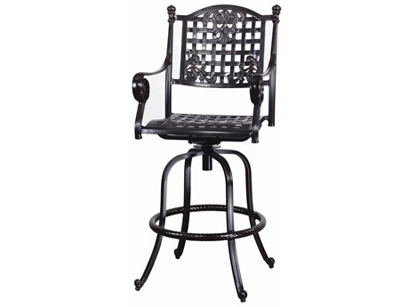 GenSun Verona & Grand Cast Aluminum Cushion Swivel Bar Stool