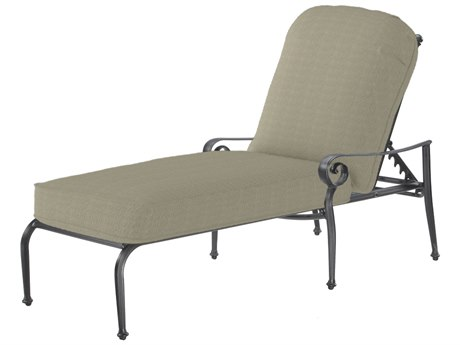GenSun Verona & Grand Cast Aluminum Cushion Chaise Lounge