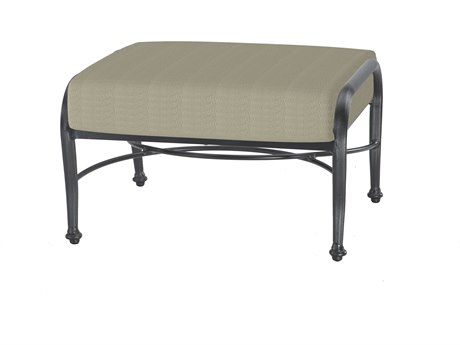 GenSun Verona & Grand Cast Aluminum Cushion Ottoman