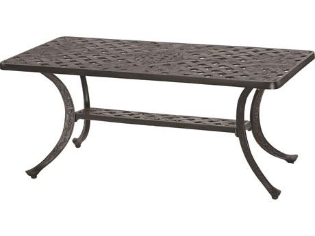 GenSun Verona Cast Aluminum 42 x 21 Rectangular Coffee Table