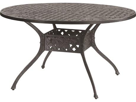 GenSun Verona Cast Aluminum 48 Round Dining Table with Umbrella Hole