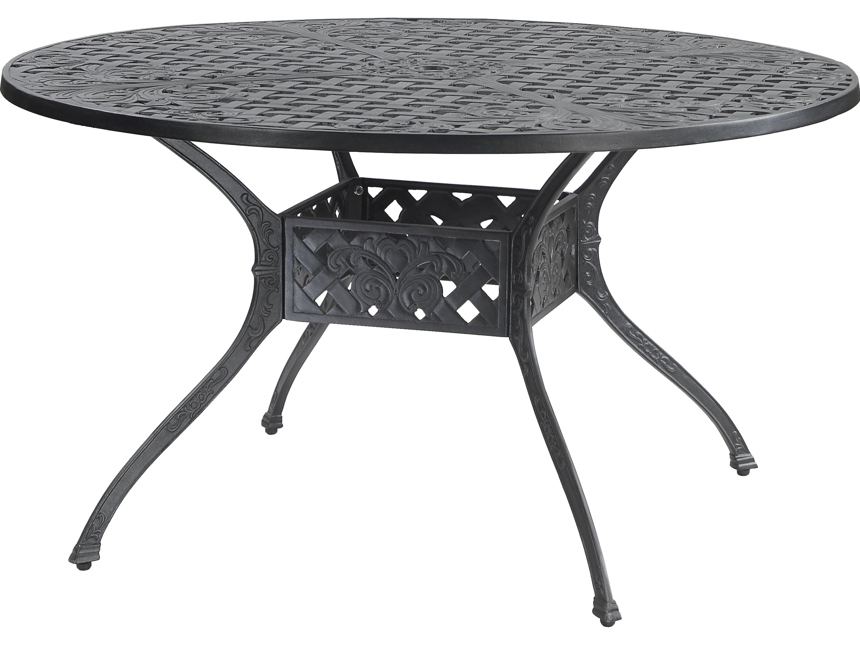 6feed9573fa8 GenSun Verona Cast Aluminum 48 Round Dining Table with Umbrella Hole |  GES80410A48