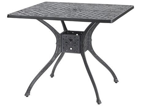 GenSun Verona Cast Aluminum 36 Square Dining Table with Umbrella Hole