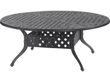 Gensun Verona Cast Aluminum 48 Round Chat Table with Umbrella Hole