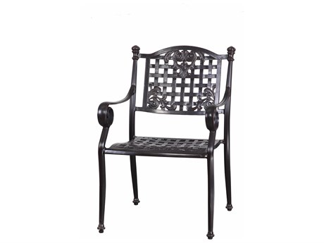 GenSun Verona & Grand Cast Aluminum Cushion Dining Chair (Sold in 2)