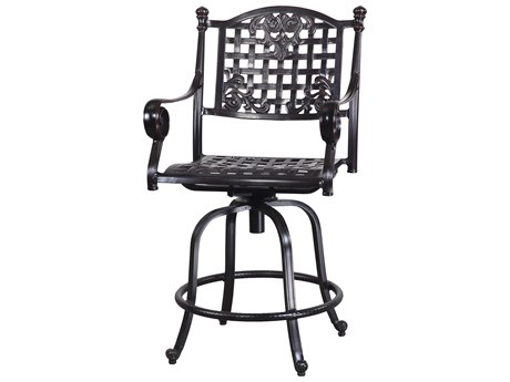 GenSun Verona & Grand Cast Aluminum Cushion Swivel Balcony Stool