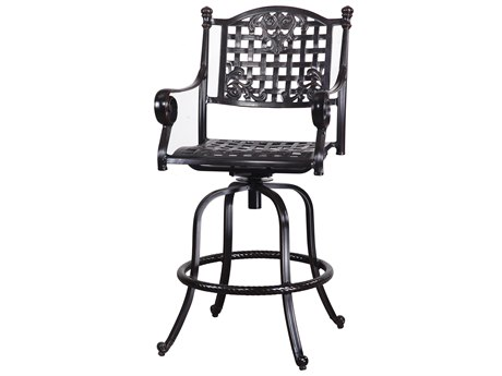 GenSun Verona & Grand Cast Aluminum Cushion Swivel Bar Stool (Sold in 2)