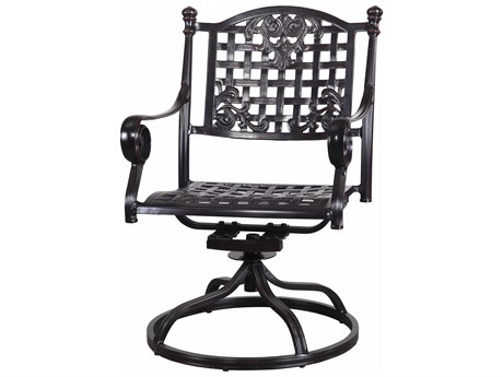 GenSun Verona & Grand Cast Aluminum Cushion Swivel Rocker (Sold in 2)