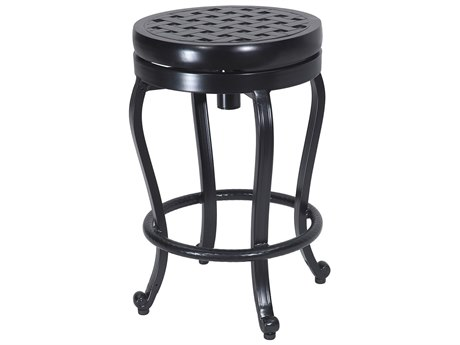 Gensun Cast Aluminum Backless Swivel Balcony Stool