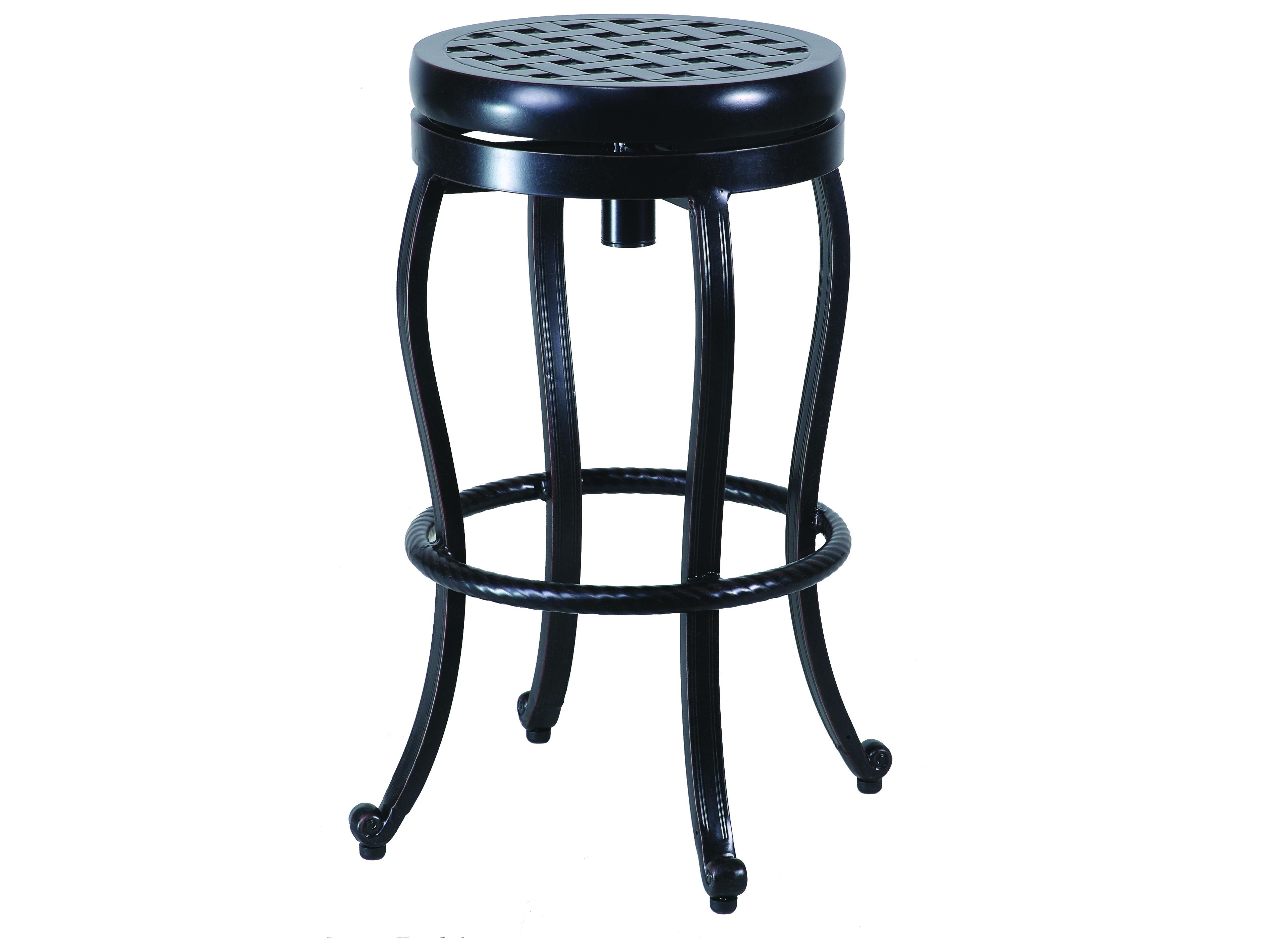 gensun cast aluminum backless swivel bar stool acce0047. Black Bedroom Furniture Sets. Home Design Ideas