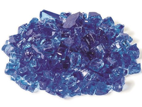 Gensun Gas Fire Pit Accessories Tempered Fire Glass in Cobalt Blue