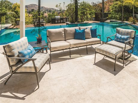 Gensun Amari Aluminum Cushion Lounge Set PatioLiving