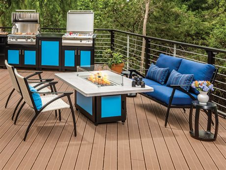 Gensun Amari Cast Aluminum Cushion Lounge Set PatioLiving