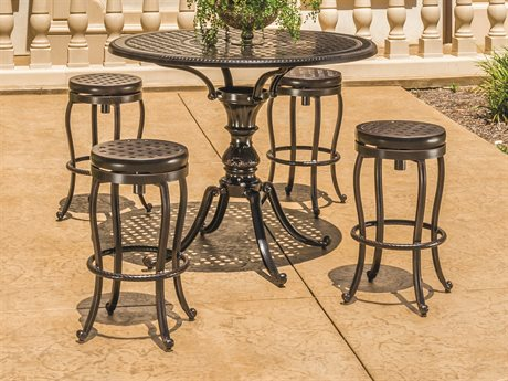 GenSun Bar And Balcony Stools Cast Aluminum Set