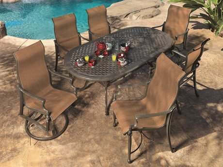 GenSun Bel Air Sling Cast Aluminum Dining Set