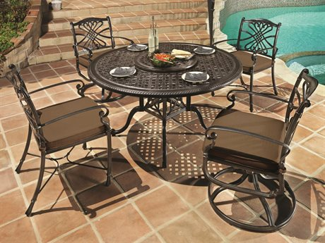GenSun Bella Vista Cast Aluminum Cushion Dining Set