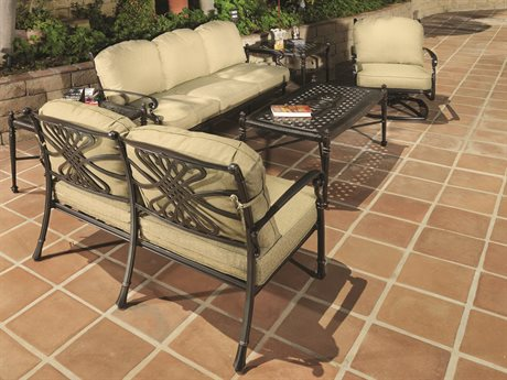 GenSun Bella Vista Cast Aluminum Cushion Lounge Set