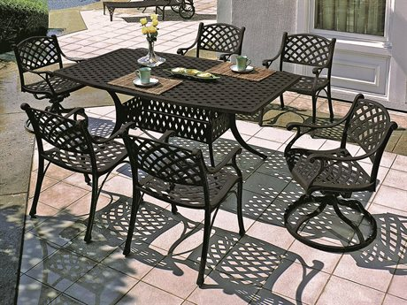 GenSun Columbia Cast Aluminum Dining Set