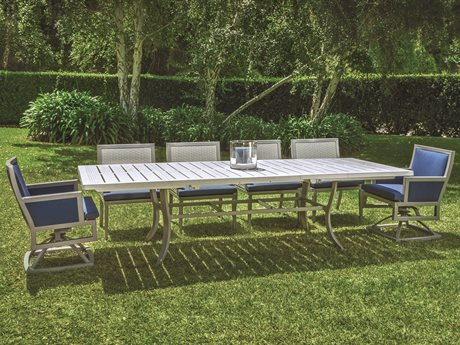 Gensun Drake Upholstered Aluminum Dining Set PatioLiving
