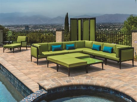 Gensun Drake Upholstered Aluminum Modular Lounge Set PatioLiving