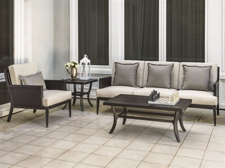 Gensun Drake Woven Deep Seating Lounge Set PatioLiving