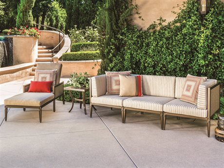 Gensun Drake Woven Modular Cushion Lounge Set PatioLiving