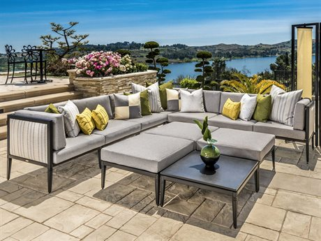 Gensun Drake Upholstered Aluminum Cushion Lounge Set PatioLiving