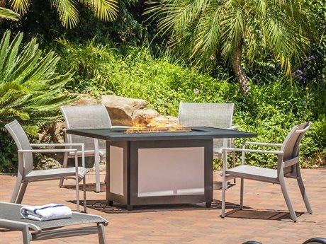 Gensun Echelon Sling Aluminum Lounge Set PatioLiving