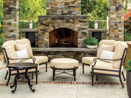 Gensun Grand Terrace Cast Aluminum Cushion Lounge Set PatioLiving
