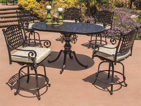 GenSun Verona & Grand Cast Aluminum Cushion Balcony Set